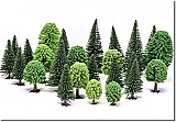 Hornby Mixed Deciduous and Fir Trees