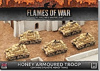 Honey Armoured Troop Plastic Tanks