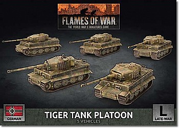WW2 German Tiger Heavy Tank Platoon (Plastic)