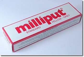 Milliput Standard  Yellow and Grey ( 40oz red box)